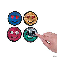 Emoji Reversible Sequin Patches