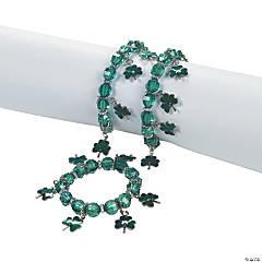 Enamel Shamrock Charm Bracelets