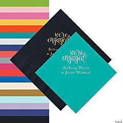 Engaged Personalized Napkins - Beverage or Luncheon