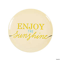 Enjoy the Sunshine Dessert Plates