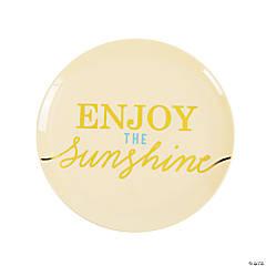 Enjoy the Sunshine Plastic Dessert Plates - 4 Ct.
