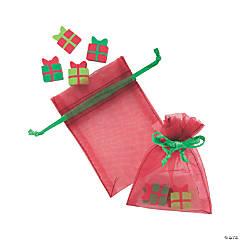 Eraser-Filled Santa Bags