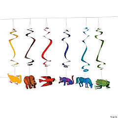 Eric Carle's Brown Bear, Brown Bear, What Do You See? Hanging Swirl Decorations - 12 Pc.