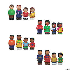 Ethnic Family Figures, Set of 16