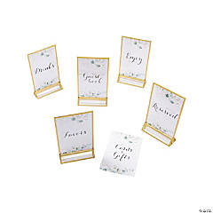 Eucalyptus Wedding Table Signs & Frames Set