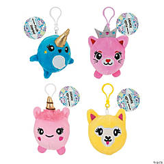 Expressions® Plush Squishy Backpack Clip