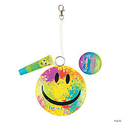 Expressions® Smiley Face ID Holder Clip with Lip Gloss