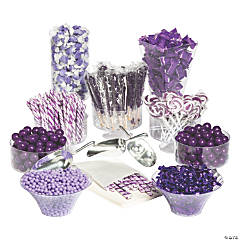 Extra Large Purple Candy Buffet Kit
