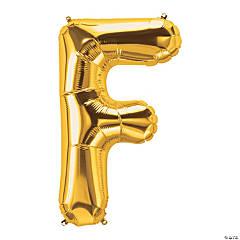 F Gold Letter Mylar Balloon