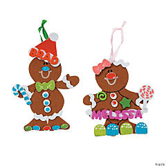 Fabulous Foam Gingerbread Christmas Ornament Craft Kit - Makes 48