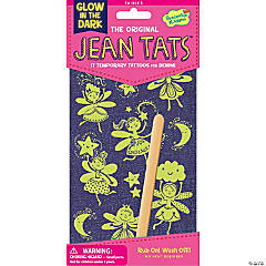 Fairies Glow-In-The-Dark Jean Tats Pack