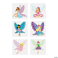 Fairy Princess Glitter Temporary Tattoos