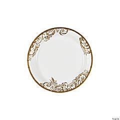 Fairy Tale Wedding Paper Dessert Plates - 50 Ct.