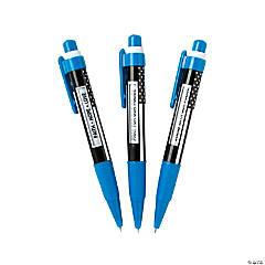 Faith Blue Line Message Pens