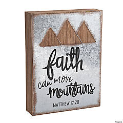 Faith Can Move Mountains Wall Sign