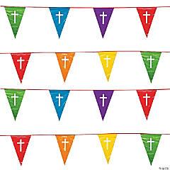 Faith Colors of the Rainbow Plastic Pennant Banner
