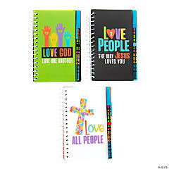 Faith Diversity Spiral Notebooks with Pen