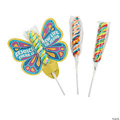 Faith Easter Butterfly Cards with Lollipop Handout Kit for 24