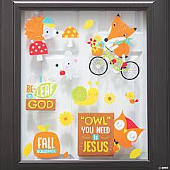 Faith Fall Animals Window Clings