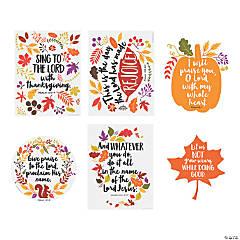 Faith Fall Floral Poster Set