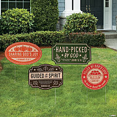 Faith Fall Market Yard Signs