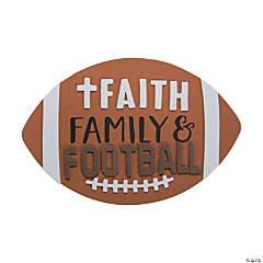 Faith Football Magnet Craft Kit