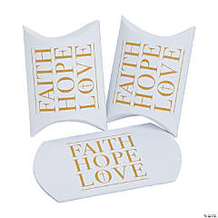 Faith, Hope, Love Pillow Boxes