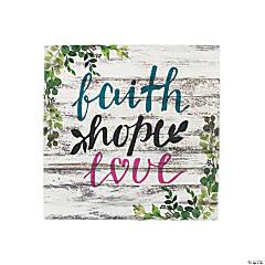 Faith Hope Love Wall Art