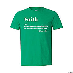 Faith (Noun) Adult's T-Shirt - Extra Large
