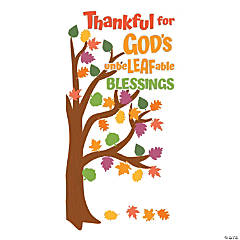 Faith Thankful Tree Door Decoration Set