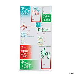 faith tofrom christmas stickers