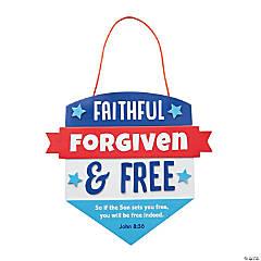 Faithful Forgiven & Free Sign Craft Kit