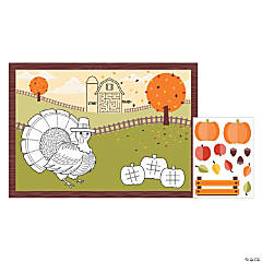 Fall Activity Placemats with Stickers