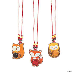 Fall Character Pom-Pom Necklace Craft Kit