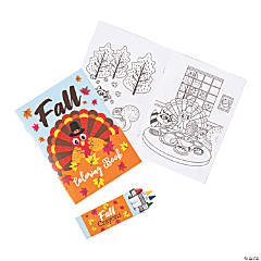 Fall Coloring Books with Crayons