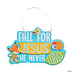 Fall for Jesus Animal Sign Craft Kit