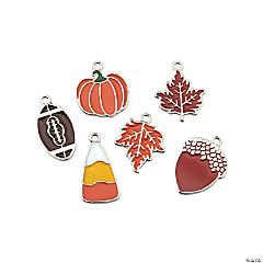 Fall is Here Enamel Charm Assortment
