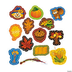 Fall Lacing Cards