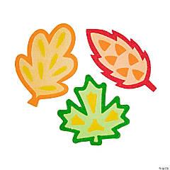 Fall Leaf Sand Art Magnets - 12 Pc.