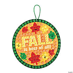 Fall Leaves Glitter Mosaic Craft Kit