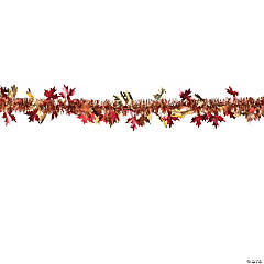 Fall Leaves Tinsel Garland