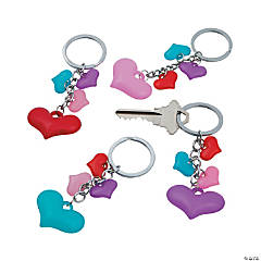 Falling Hearts Keychains