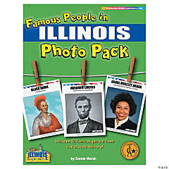 Famous People from My State's History Photo Pack - Illinois
