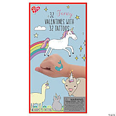 Fancy Prancy Valentine Exchange with Temporary Tattoos