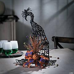 Fancy Witch Hat Centerpiece Halloween Decoration