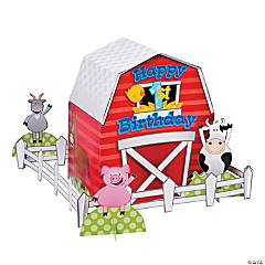 FARM 1ST BIRTHDAY CENTERPIECE (5PC)
