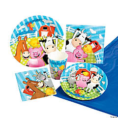 Farm 1st Birthday Tableware Kit for 8 Guests