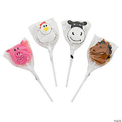 Farm Animal Character Lollipops