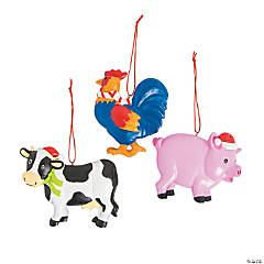 Farm Animal Ornaments