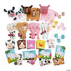 Farm Animal Party Favor Box Kit for 12